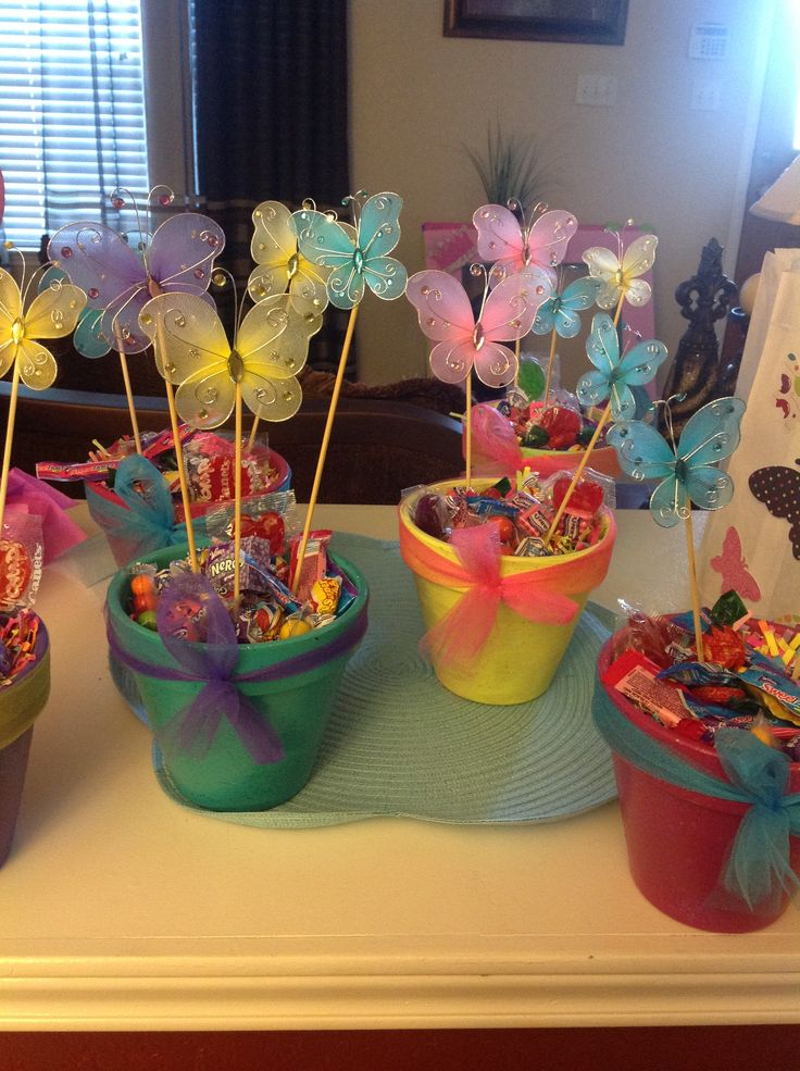 Butterfly flower pot centerpieces crafts pinterest