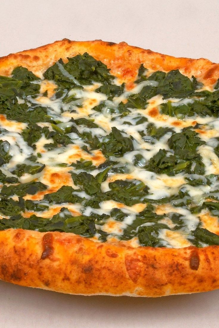 Weight Watchers White Pizza with Spinach and Caramelized Onions Recipe with Ricotta Cheese, Parmesan Cheese, Basil - Uses Prebaked Pizza Crust - Ready in 15 Minutes - 6 SmartPoints, 5 PointsPlus, 4 WW Points