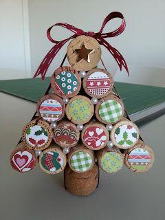 Costuraki: DIY Pinheiro de Natal com rolhas de cortiça