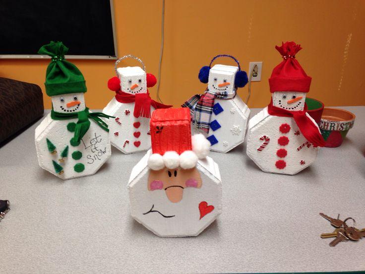 Winter paver crafts