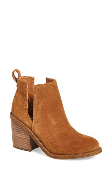 Free shipping and returns on Steve Madden 'Sharini' Bootie (Women) at Nordstrom.com. Bold side cutouts and a blocky stacked heel further the of-the-moment look of a streetwise bootie cast in nubuck leather.