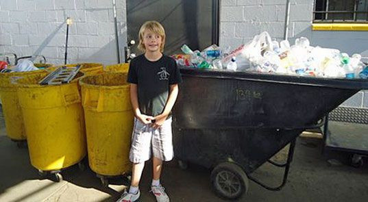 10 year old Vanis is a great role model for people of all ages, and a testament to the fact that even one person can make a huge difference in the lives of others via planet preservation and philanthropy. He launched his own recycling business collecting recyclable rubbish off the streets.
