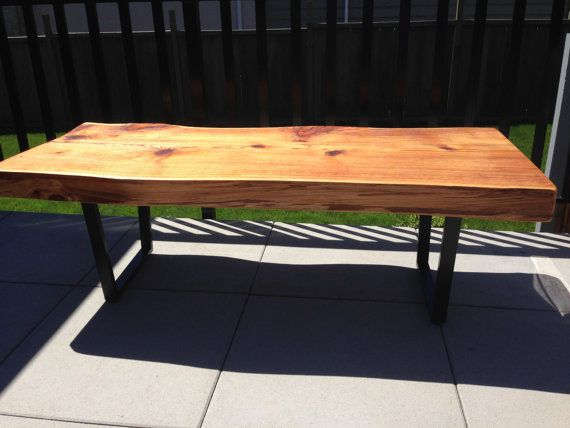Coffee Table Live Edge Solid Cedar Outdoor Wood Table Wood