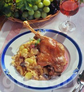 Lajos Mari konyhája - Libacomb szőlős káposztával