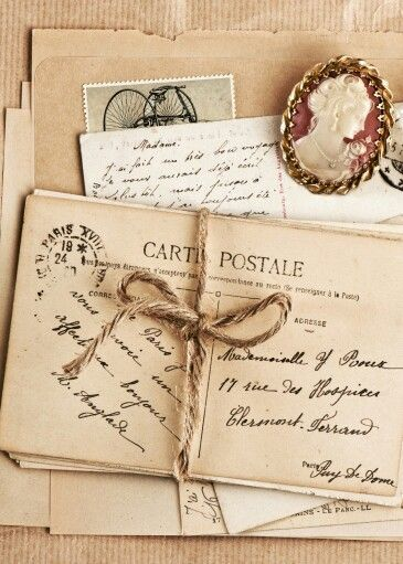 old letters and cameo