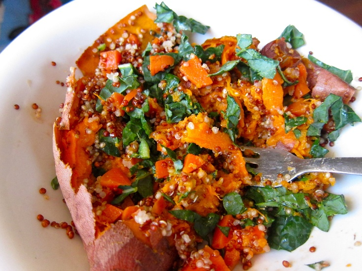 Baked and Stuffed Sweet Potatoes with Lemon-Tahini Sauce | Eat It ...
