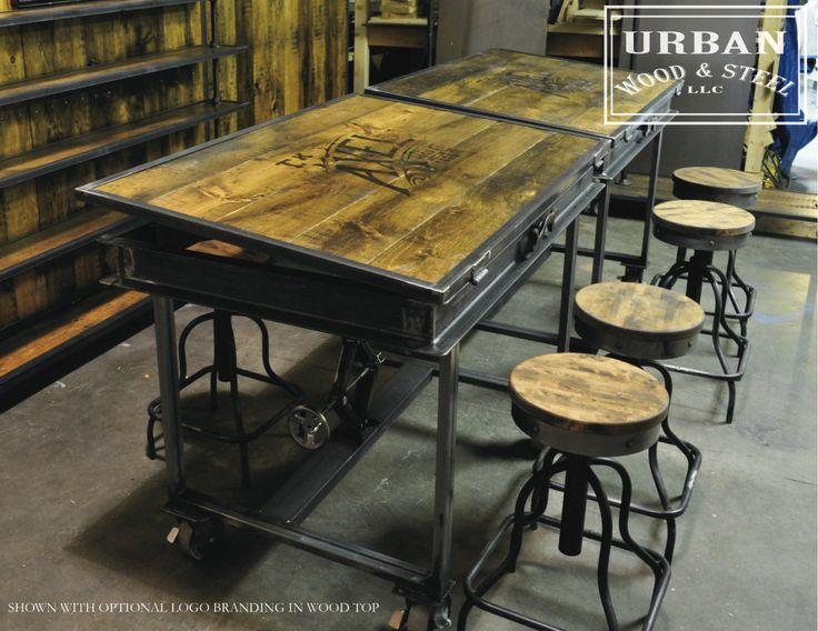 Industrial Adjustable Drafting Table. $1,200.00, via Etsy.