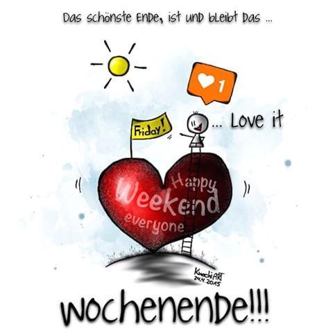 #HAPPY #WEEKEND #EVERYONE 😘 #spruchdestages 👉🏻 Das schönste #Ende ist und bleibt das #Wochenende ✌🏻️ we❤️it ...