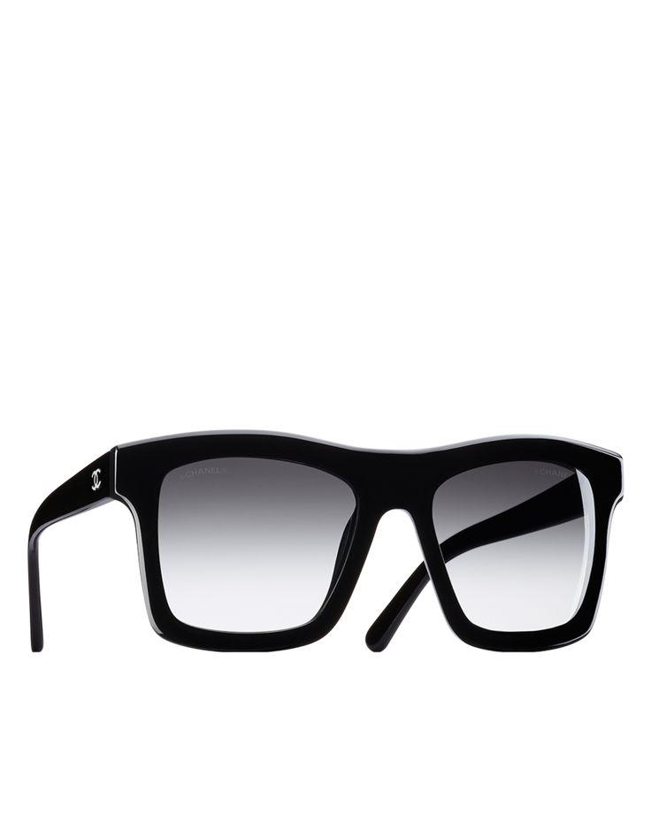 Oversized rectangular acetate sunglasses... - CHANEL