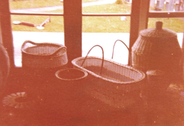 1970 Various pieces of cane ware I made for family while living in Wanganui