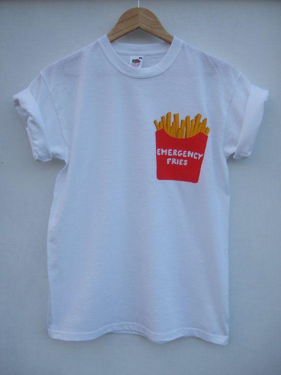 Emergency Fries Pocket T Shirt 2 weeks by tappingtonandwish