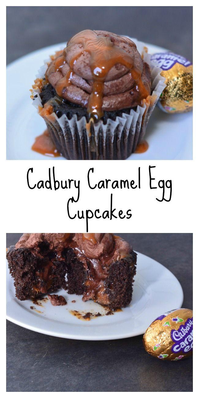 These Cadbury Caramel Egg Cupcakes are amazing!!!!