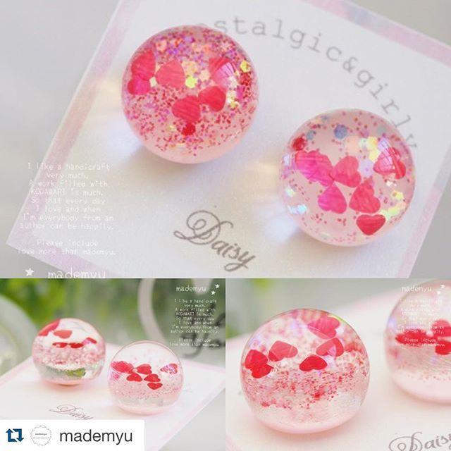 WEBSTA @ daisy_jpn_ - #Repost @mademyu with @repostapp.・・・**11月25日販売開始**ブランド → #Daisy商品→ #ピアス #イヤリング*#までみゅ~ #ハンドメイド #handmade #ハンドメイドアクセサリー#レジンアクセサリー #レジン #ドーム#accessory #accessories #handmade #Daisy #girly #fancy #ハンドメイド #デイジー #アクセサリー #ガーリー #ファンシー #レジン #樹脂 #ゆめかわいい #kawaii #ハンドメイドアクセサリー #ピアス #イヤリング #赤 #ハート #sweetlolita #ドームアクセサリー #dreamy #レジンアクセサリー