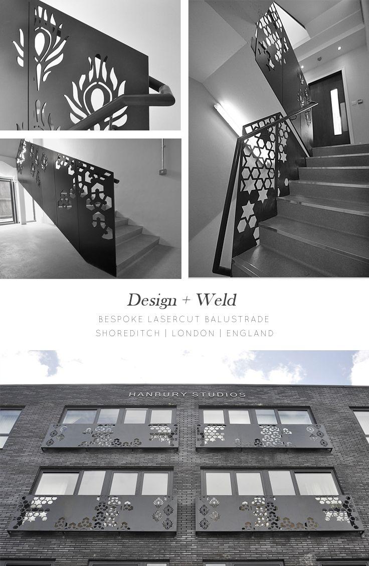 Bespoke laser cut balustrade | Shoreditch, London | Design + Weld www.designandweld.com