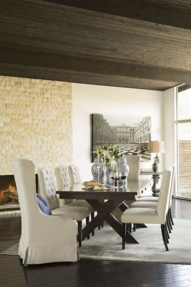 Living Spaces Laidback Luxury Styled By Jeff Lewis Diningroom