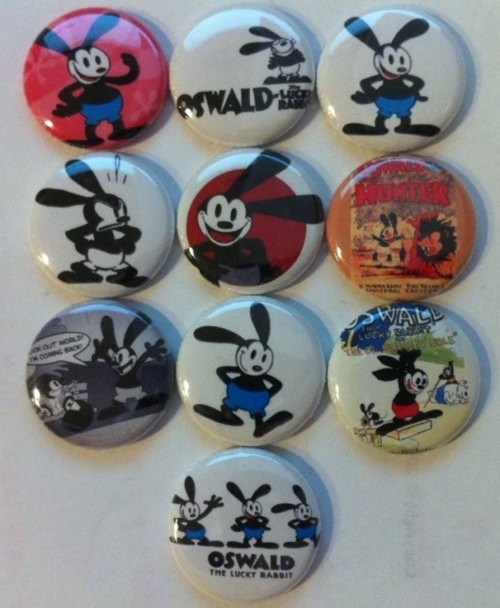 Oswald The Lucky Rabbit button set