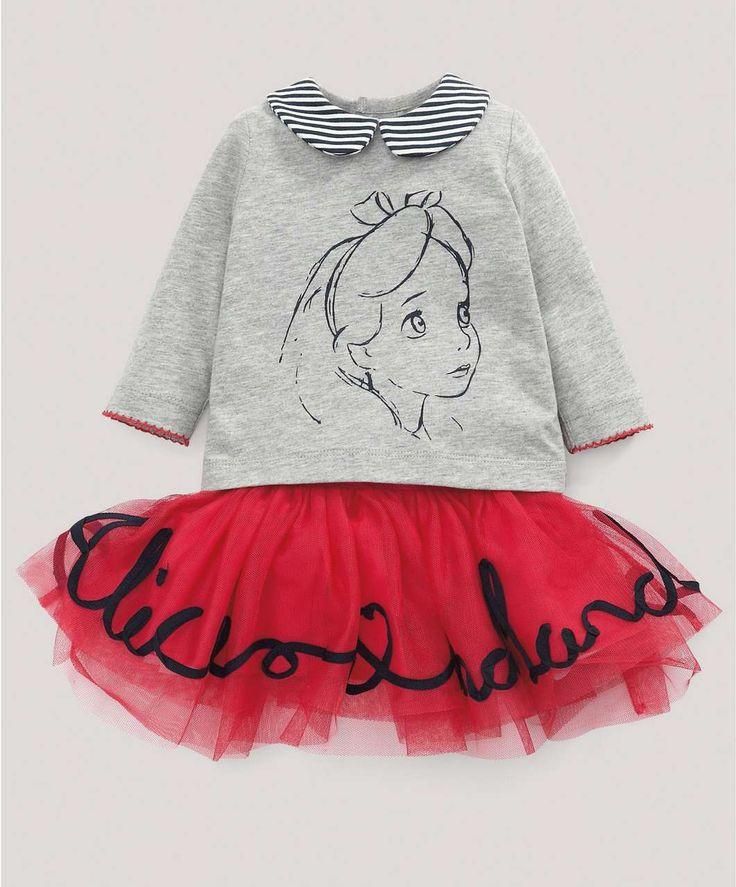Alice in Wonderland T-Shirt and Tutu - Disney - Alice In Wonderland - Mamas & Papas