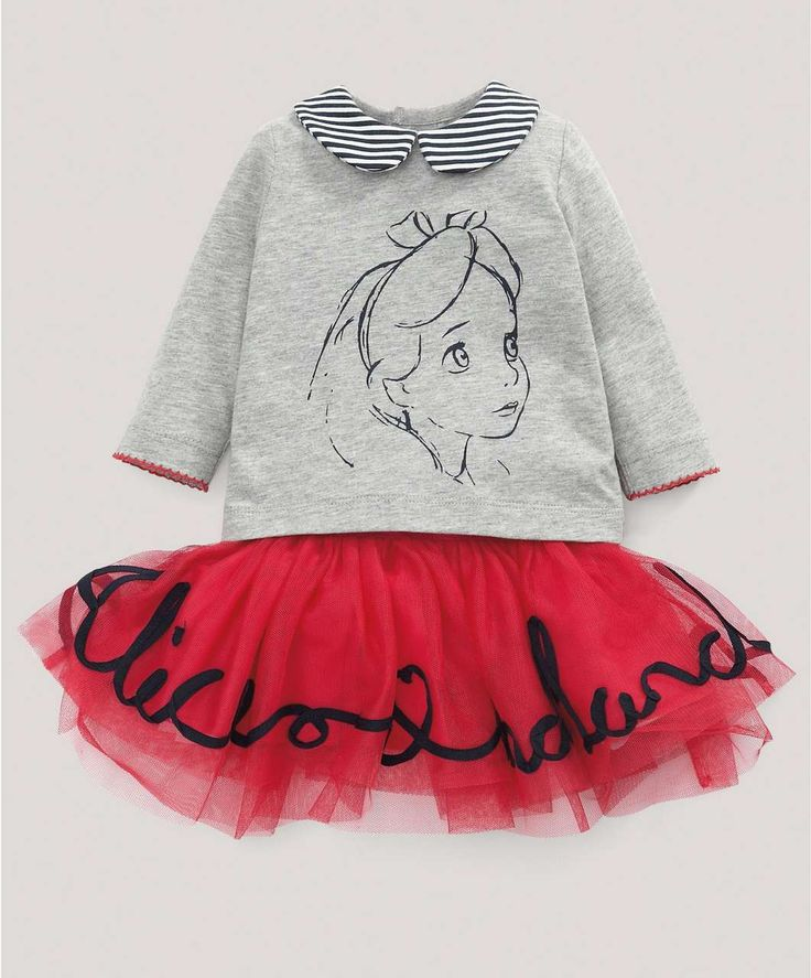 Alice in Wonderland T-Shirt and Tutu - Disney - Alice In Wonderland - Mamas & Papas