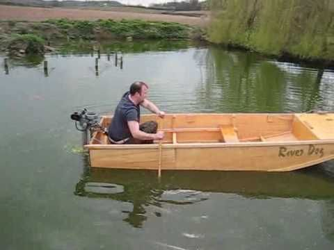 Boat Launch River Dog Homemade boat in pond Seagull Outboard - YouTube | Boat | Pinterest | Boat ...