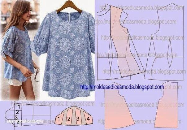 moldes para hacer camisas de mujer