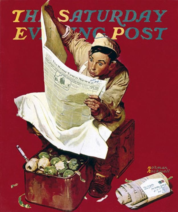 Apr. 11, 1942 - Willie Gillis: Hometown News | The Complete Willie Gillis Series By Normal Rockwell