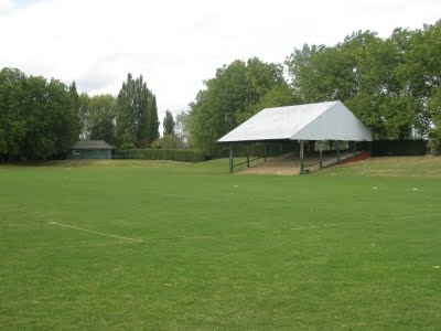 The Henry Barrass football stadium where you could watch Edmonton FC in their amber kit play to 30 fans