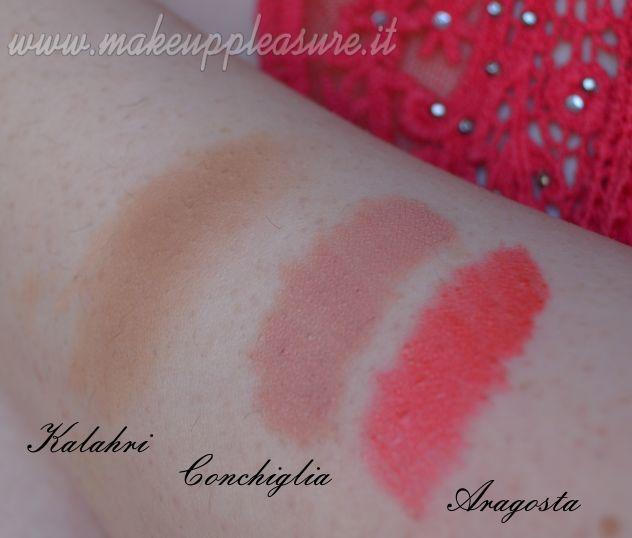 Novità in casa Neve: Pastello labbra Aragosta e Conchiglia, terra Kalahari | Make up Pleasure