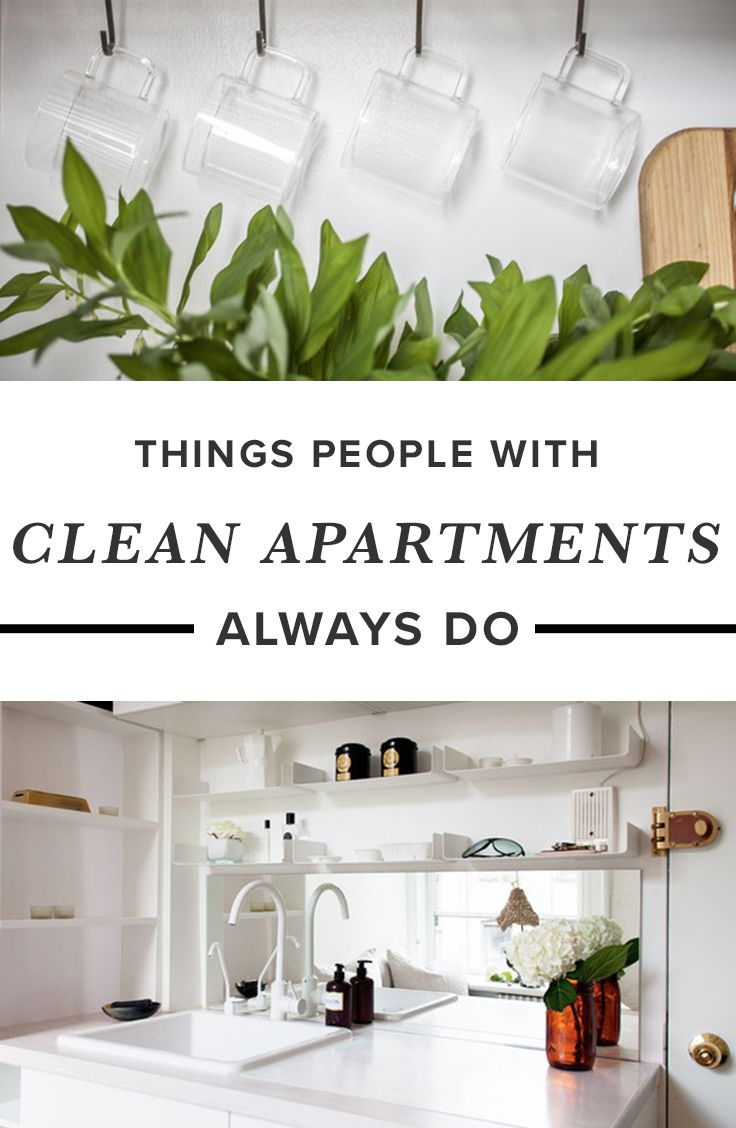 Things People With Clean Apartments Always Do