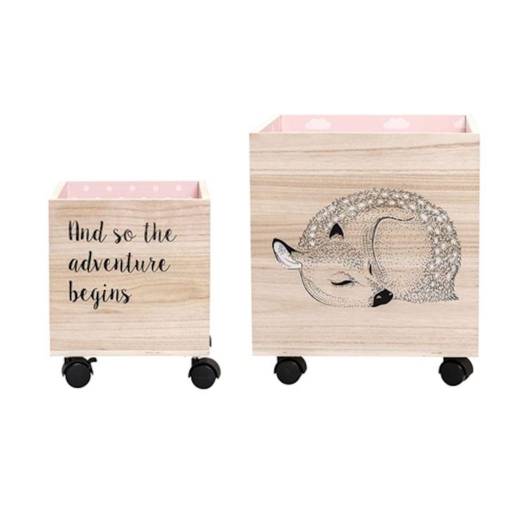 Bloomingville Förvaringsbox Trä Bambi 2-pack
