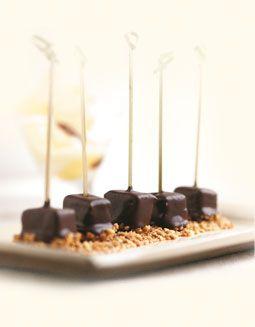 Callebaut - Tapas de chocolate con piña