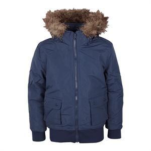 Smart vinterjakke med hætte og pelskrave fra Jeff.