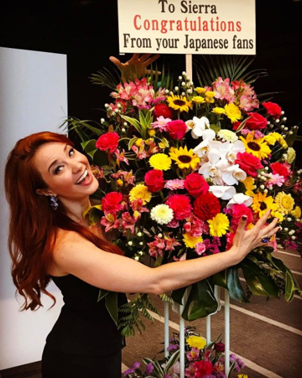 "Sierra Boggess has fans who think of her fondly all over the world! The Broadway fave recently performed ""Think of Me"" in French, Japanese and English in Tokyo.(Photo: Instagram.com/officialsierraboggess)"