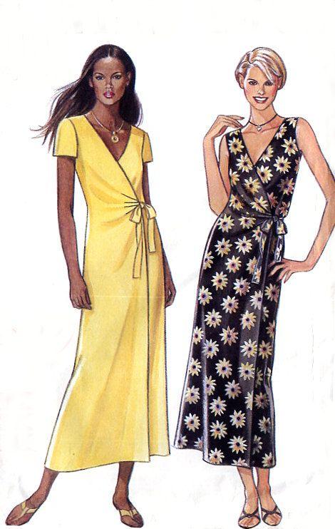 wrap dress pattern photo | Summer Wrap Dress Pattern - New Look 6861 - Sleeveless / Short Sleeves ...