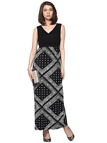 Black Printed Maxi Dress by Magnetic Designs(MDR357_Black_Small) Magnetic Designs http://www.amazon.in/dp/B00ULL08IW/ref=cm_sw_r_pi_dp_mQIQvb0H7A95X