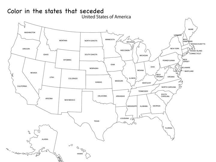 States Map To Colorlabel Social Studies Pinterest Social - Us map to color and label