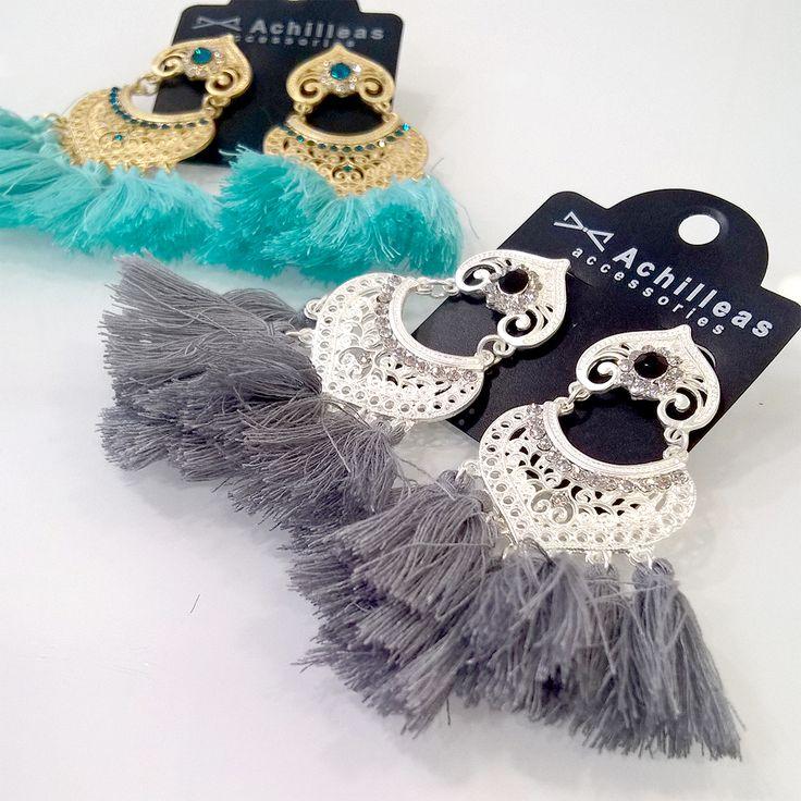 Tassel earrings.  #boho #elegant #chic #cute #earrings #accessories #madebygreece #greece #achilleas_accessories