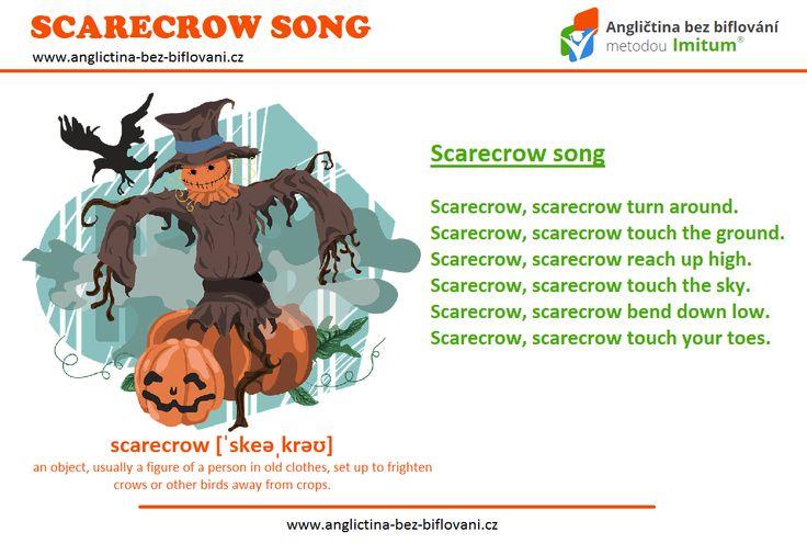 Naučte se podzimní anglickou písničku o strašákovi do zelí a rozhýbejte přitom svoje tělo  #scarecrow #song