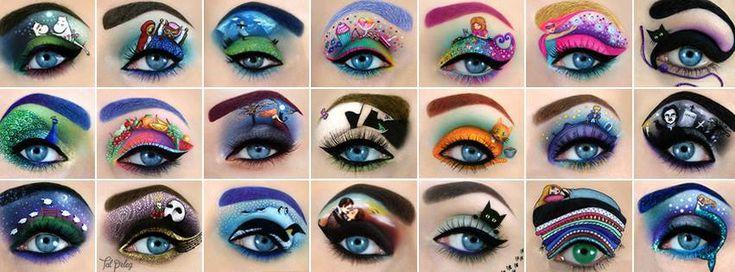 Don't Blink! This amazing eye makeup art will blow you away! www.booZhee.com #makeup #beauty #art #fun #booZhee #painting #artist #TalPeleg