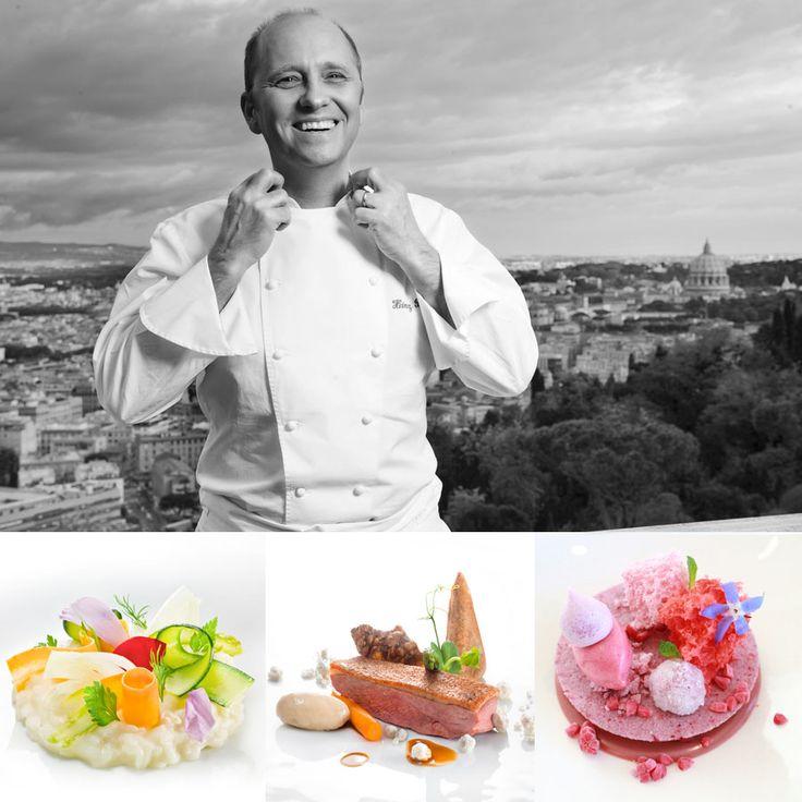 3 star - Chef Heinz Beck -Restaurant La Pergola Roma, Italy #italianfood #italianchef #italianrestaurant www.100ita.com