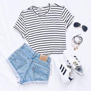 50 + niedliche Sommer Outfits Ideen für Jugendlic…