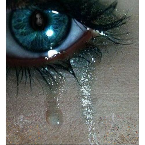 Looking out through crying eyes