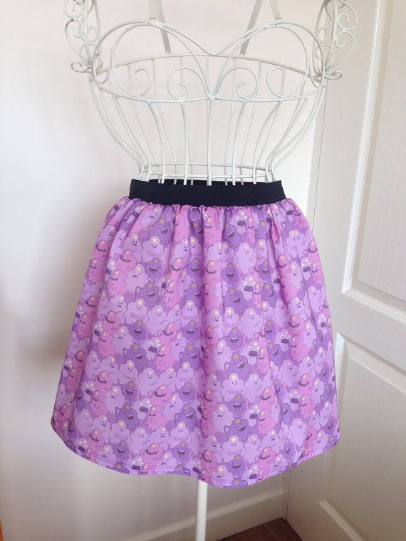 Lumpy Space Princess inspired skater style skirt