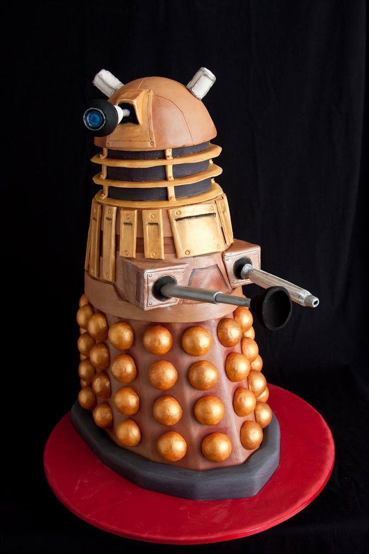 Cake Time: 2 Foot Tall Dalek OMNOMNOM