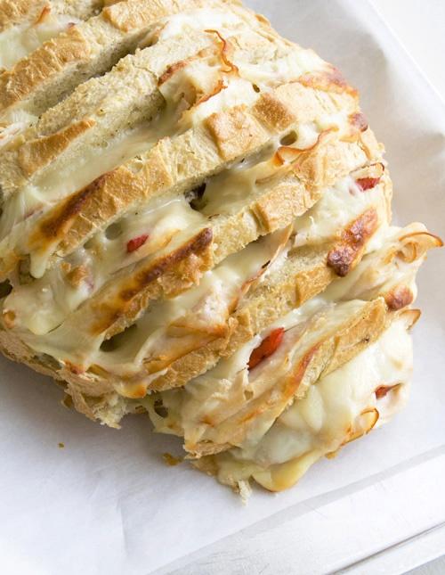 WOW!! Cheesy Stuffed Sourdough Loaf
