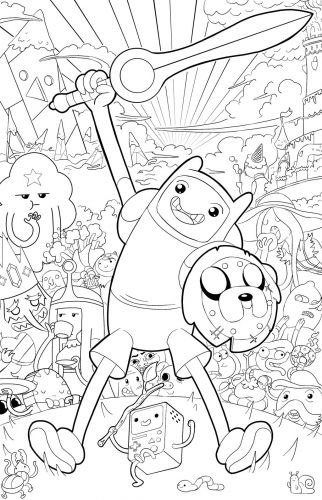 48 best coloriage adventure time images on pinterest adventure time adventure time coloring - Dessin aventure ...