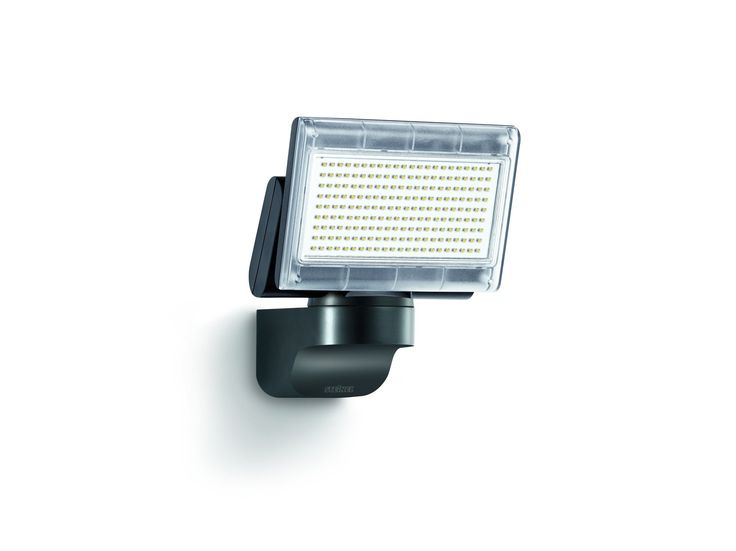 Steinel 659912 Outdoor floodlight, Xled Home 1 Slave, without sensor, black, LED, IP44, aluminum heat sink, 5 years warranty 12W [Energy Class A]