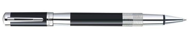 Waterman Elegance Black Silver Trim Rollerball Pen
