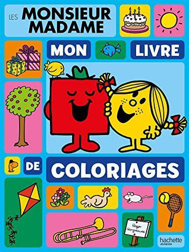 Monsieur Madame - Mon livre de coloriages #Monsieur #Madame #livre #coloriages