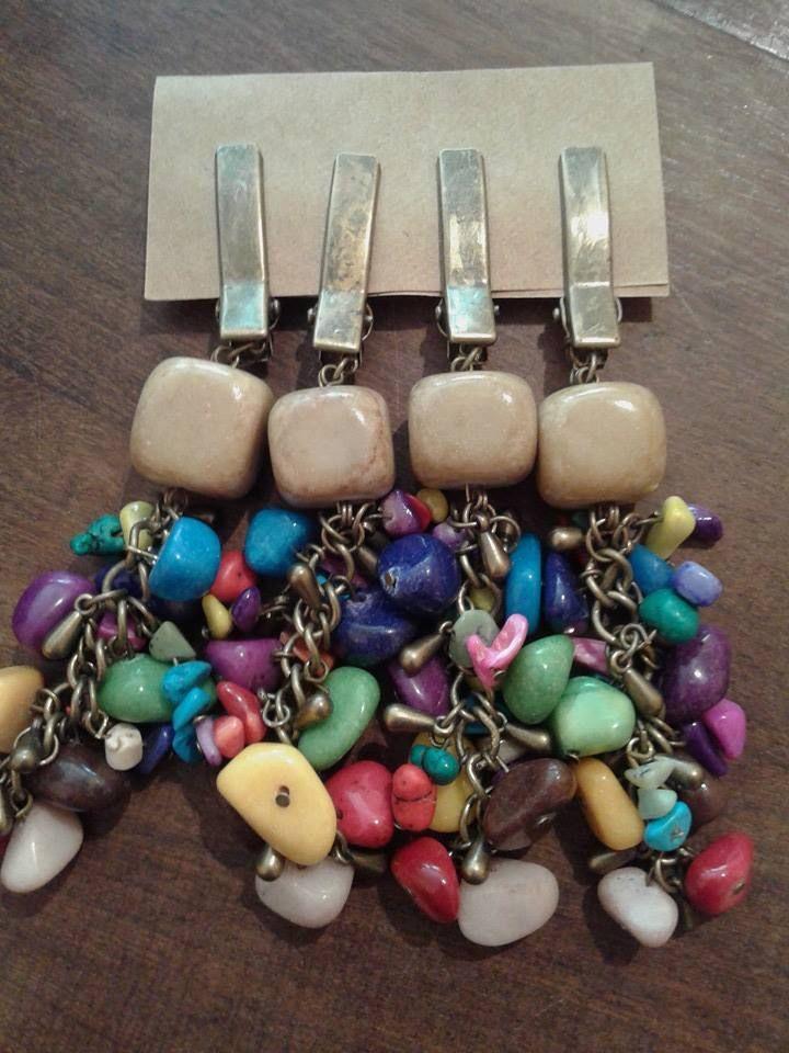 Un conjunto de pesas para que decores tu mesa con una funcionalidad agregada. Evitar que el mantel se vuele al aire libre!. www.facebook.com/amalgama.bijouxdeco