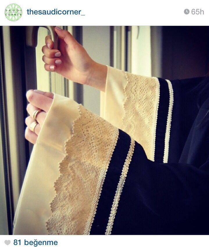 Lace abaya